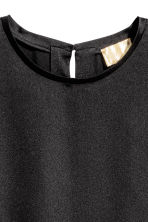Short-sleeved top - Black - Ladies | H&M CN 3