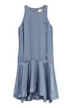 Sleeveless satin dress - Pigeon blue - Ladies | H&M 2