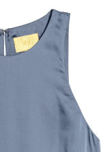Abito senza maniche in satin - Blu tortora - DONNA | H&M IT 3