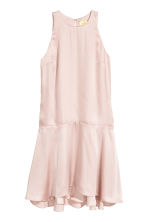 Sleeveless satin dress - Light pink - Ladies | H&M 2