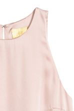 Sleeveless satin dress - Light pink - Ladies | H&M 3