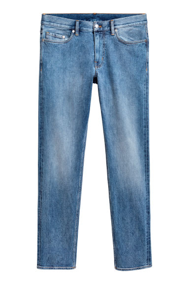 Selvedge jeans - Blue washed out - Men | H&M 1