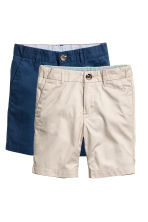 2-pack chino shorts - Light mole - Kids | H&M CN 2