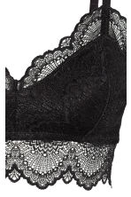 Bralette in pizzo - Nero - DONNA | H&M IT 3