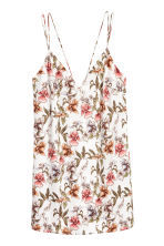 V領細肩帶上衣 - Natural white/Floral - Ladies | H&M 2