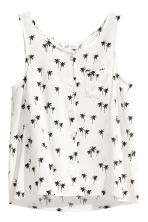 Sleeveless top - White/Palms -  | H&M 2