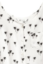 Sleeveless top - White/Palms -  | H&M 3
