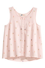 Sleeveless top - Light pink/Ice cream -  | H&M 2
