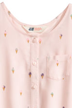 Sleeveless top - Light pink/Ice cream -  | H&M 3