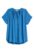 V-neck blouse - Blue - Ladies | H&M CA 2
