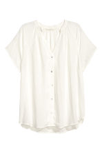 V-neck blouse - White -  | H&M CN 2