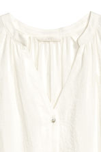 V-neck blouse - White -  | H&M CN 3