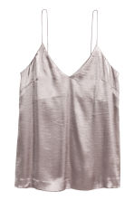 V-neck top - Silver - Ladies | H&M 2