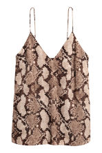 V-neck top - Snakeskin print - Ladies | H&M CN 2