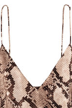 V-neck top - Snakeskin print - Ladies | H&M CN 3