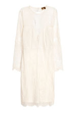 Lace dress - Natural white -  | H&M 2