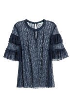 Lace blouse - Dark blue - Ladies | H&M CN 2