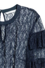 Lace blouse - Dark blue - Ladies | H&M CN 3