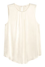 Sleeveless blouse - Natural white - Ladies | H&M CN 2