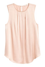 Sleeveless blouse - Powder pink - Ladies | H&M CN 2