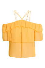 Off-the-shoulder flounced top - Yellow - Ladies | H&M CN 2