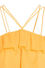Off-the-shoulder flounced top - Yellow - Ladies | H&M CN 3