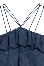 Off-the-shoulder flounced top - Dark blue - Ladies | H&M 3