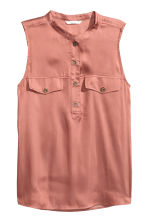 Sleeveless satin top - Vintage pink - Ladies | H&M 2
