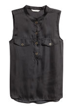 Sleeveless satin top - Black - Ladies | H&M CN 2
