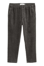 Corduroy trousers - Dark grey - Men | H&M CN 2