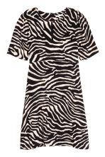 Crêpe dress - Zebra print -  | H&M CN 2