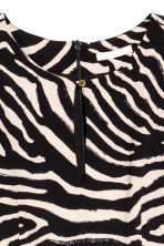 Crêpe dress - Zebra print -  | H&M CN 3