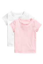 2-pack short-sleeved tops - Light pink -  | H&M CN 2