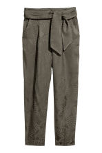 Ankle-length trousers - Dark khaki green - Ladies | H&M 2