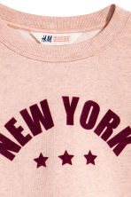 Cropped sweatshirt - Powder pink/New York -  | H&M 3