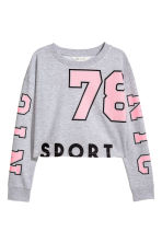 Cropped sweatshirt - Grey marl -  | H&M 2