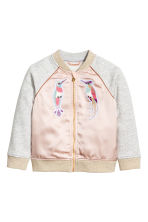 Sweatshirt jacket - Powder pink - Kids | H&M GB 2