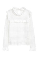 Textured-knit jumper - White - Ladies | H&M GB 2