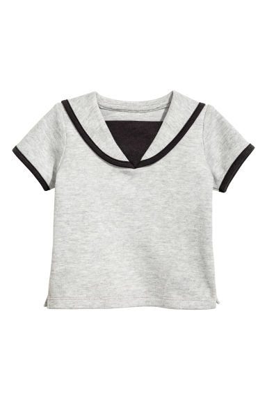 Sailor top - Light grey marl - Kids | H&M 1
