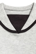Sailor top - Light grey marl - Kids | H&M 4