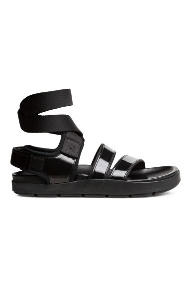 Leather sandals - Black - Ladies | H&M 1