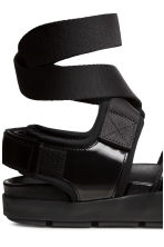 Leather sandals - Black - Ladies | H&M CN 4