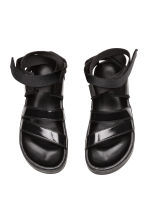 Leather sandals - Black - Ladies | H&M 2