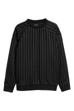 Striped sweatshirt - Black - Men | H&M CN 2