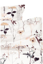 Patterned duvet cover set - White/Floral - Home All | H&M CA 3