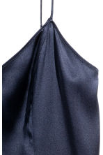 Silk V-neck camisole - Dark blue -  | H&M 3