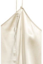 Silk V-neck camisole - Light beige - Ladies | H&M CN 3
