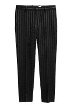 Striped suit trousers - Black - Men | H&M 2