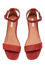 Suede sandals - Rust red - Ladies | H&M 3