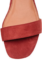 Suede sandals - Rust red - Ladies | H&M 4